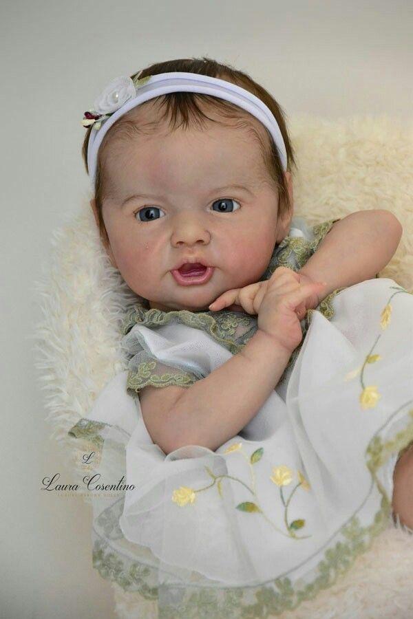 ADOREABLE REBORN BABY GIRL~URIEL BY PRISCILLA LOPEZ~MICRO ROOTED HAIR~NR~SALE Rebornpuppen Künstler- & handgemachte Puppen