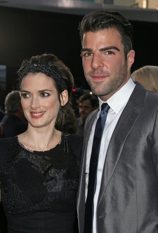 Winona Ryder and Zachary Quinto (Spock and his mom  - Star Trek 2009)