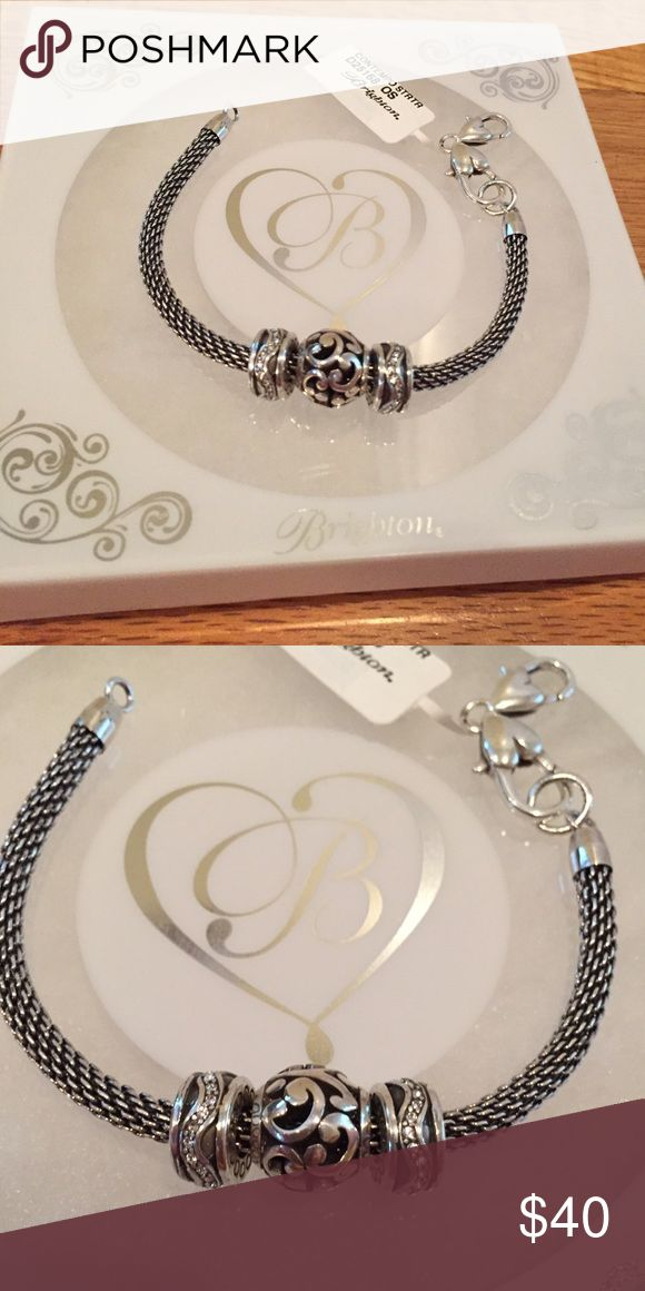 """NIB Brighton bracelet in sterling silver """"Contemporary"""" style bracelet from Brighton, brand new, no flaws. Comes in original box. The perfect piece for any outfit. Brighton Jewelry Bracelets"""