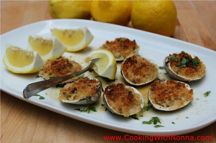 baked clams - cooking with nonna