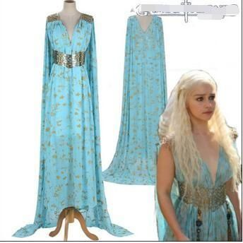Special Use: CostumesMaterial: PolyesterModel Number: Game Of Thrones Daenerys Targaryen CosplayTheme: Other