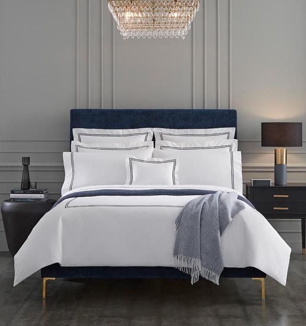 Grande Hotel Fabric In 2020 Hotel Duvet Covers Hotel Collection Blue Bedding