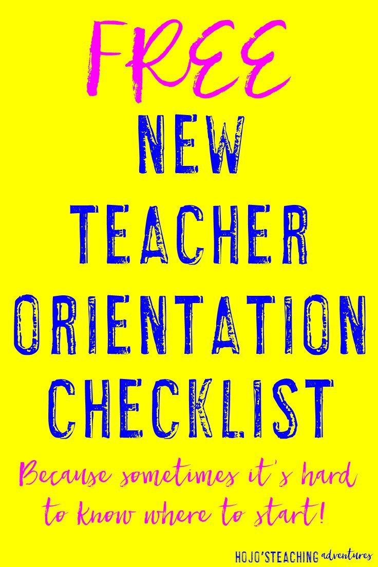 Are you a new teacher? Or perhaps you're moving to a new school this school year? Either way - starting a new school year can be overwhelming, stressful, and flat out scary. But it doesn't have to be! Check out this FREE New Teacher Orientation Checklist, and you'll be all set for the new school year as you check items off one at a time!