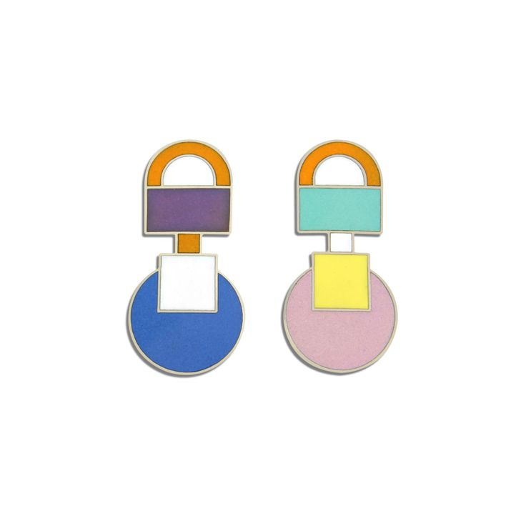 Ettore Sottsass ASTEROIDE Earrings jewelry memphis designers for acme