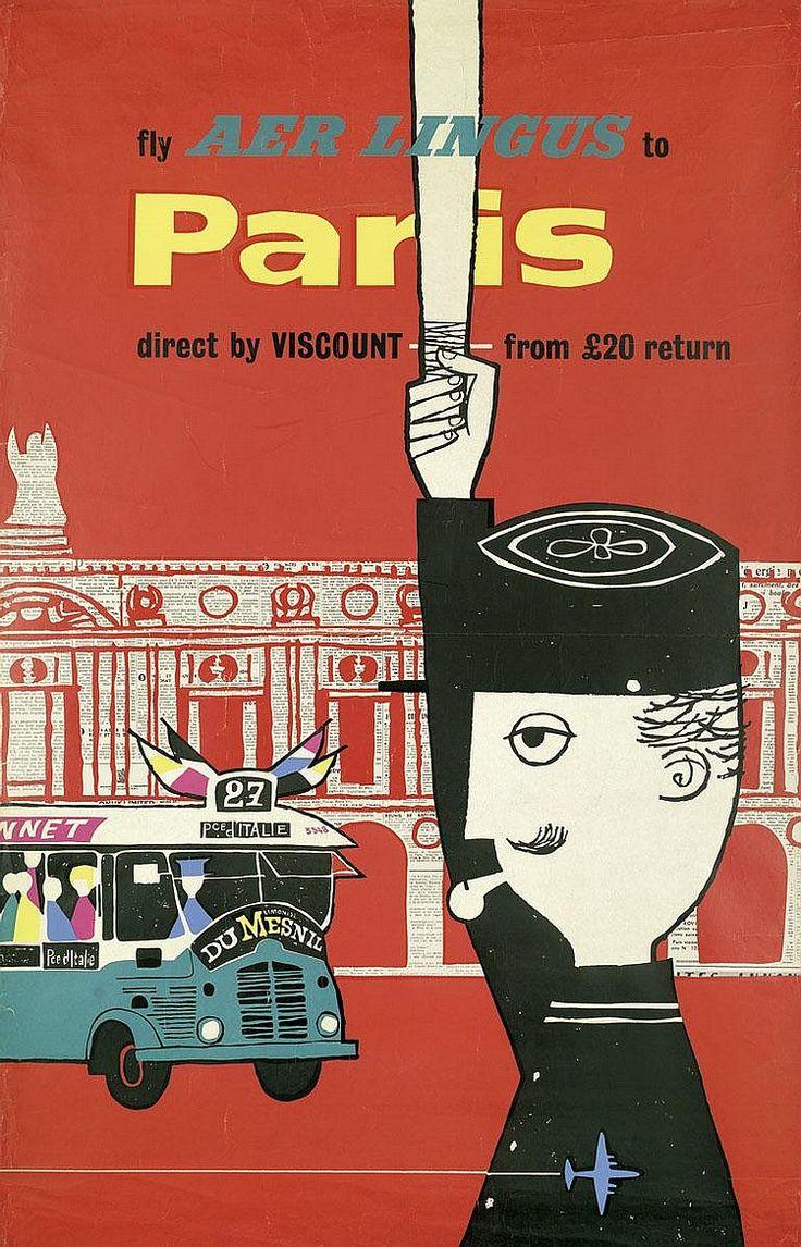 Aer Lingus Poster Paris ca