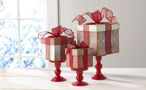 Christmas Gift Box Centerpiece Interior Design