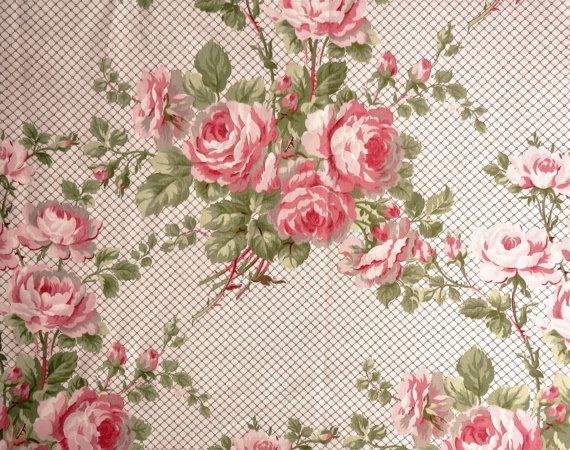 Laura Ashley Laura floral fabric in pink 1984 by MrsSmallsWonders                                                                                                                                                                                 More