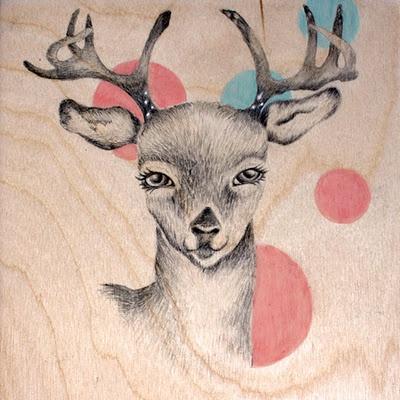 Drawing on Wood Panel Kate needs this for Maci