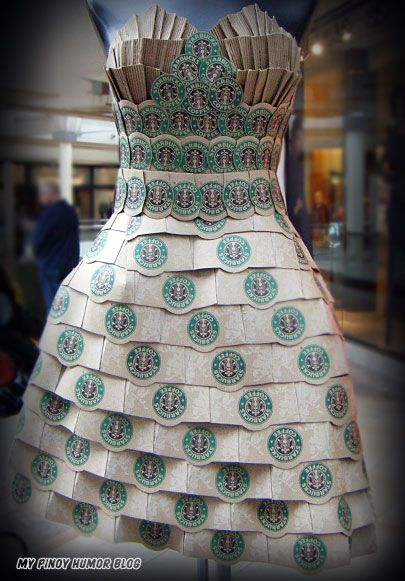 Starbucks coffee dress.