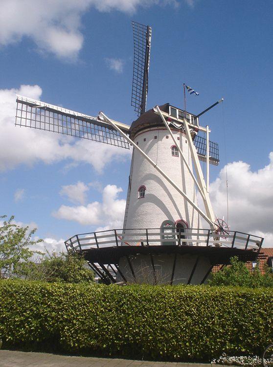 Flour mill De Vier Winden, Sint Annaland, the Netherlands