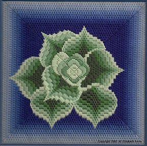 LIZART NEEDLEPOINT - Asymmetrical Bargello
