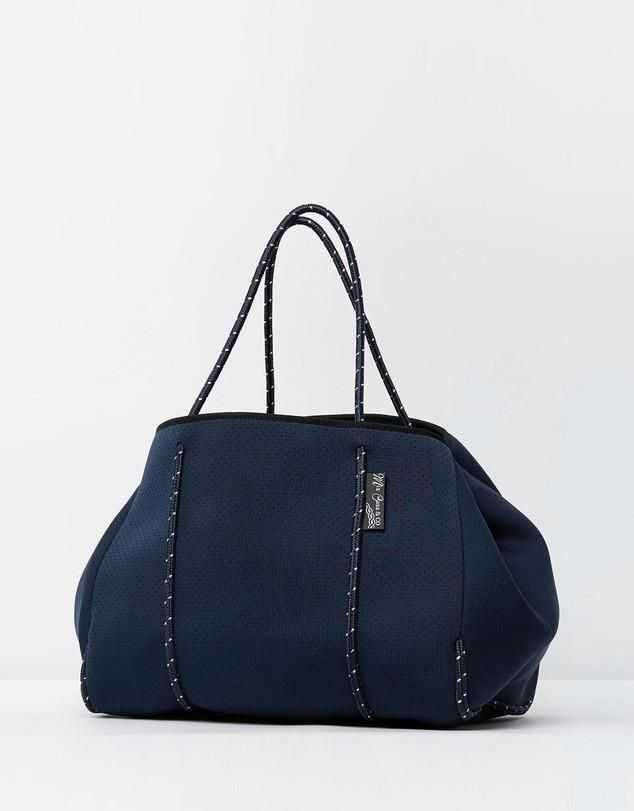 Miz Casa & Co Sammy Tote Bag Shiny Navy