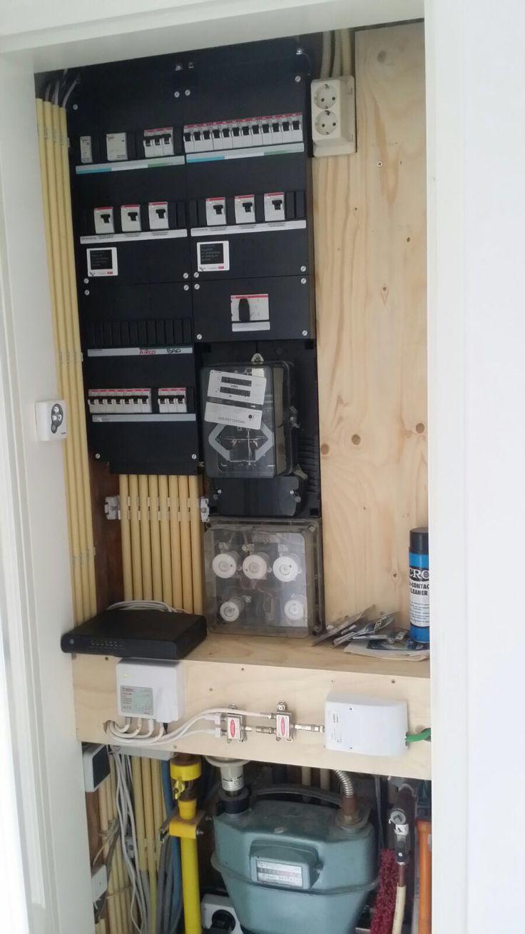 """De nieuwe groepenkast na de renovatie! Opgeleverd door Hillebrand Elektroservice """"de meterkast specialist"""""""