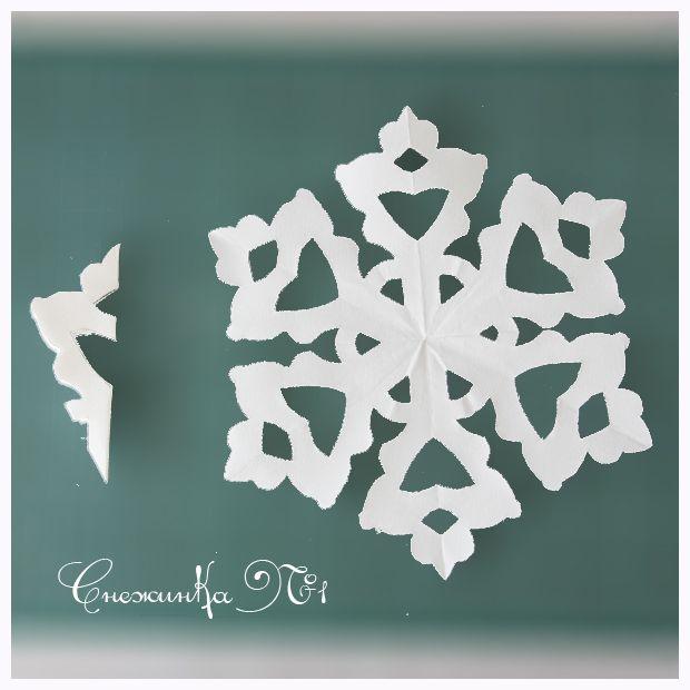 инструкция по вырезанию снежинок