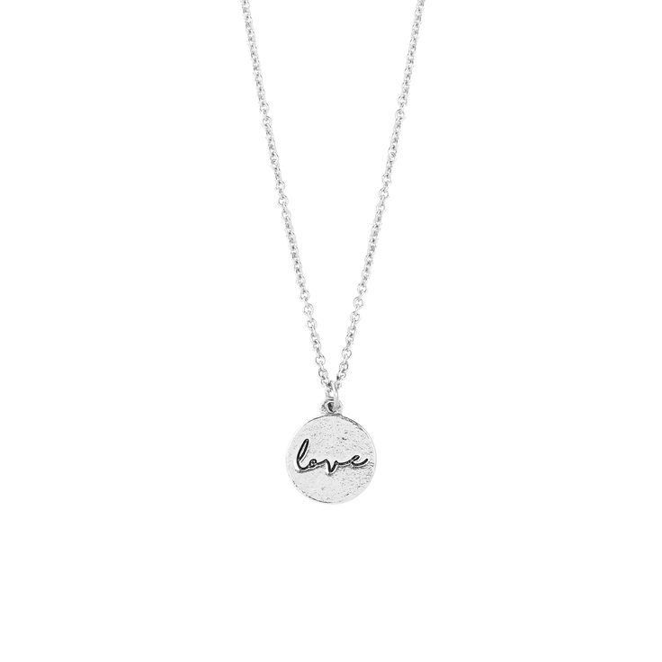 P.S. I Love You Love Sweet Notes Necklace in Silver - available in gold and silver. $24. #silvernecklace, #shortnecklace, #silverjewelry, #love, #charm, #holidaygift, #jewelrygift, #gift, #valentines #nickelfree #leadfree #madeinCanada