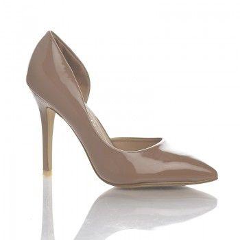 Pantofi Nova Pantofii Nova sunt un model foarte cochet si feminin, care se remarca prin nuanta deosebita: bej-caramel. Acesti pantofi sunt ideali pentru tinutele de birou, mai ales datorita tocului stabil si comod de 11cm. Acesti pantofi au un design inedit, decupat pe partea interioara a fiecarui picior.