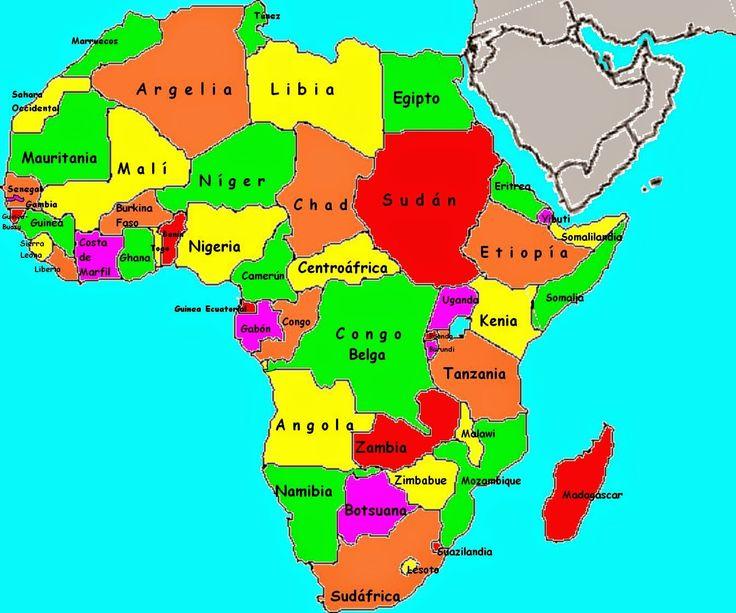 Ms de 25 ideas increbles sobre Mapa de pases africanos en