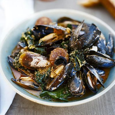 Recipe for Portuguese-Style Mussels, as seen in the June 2008 issue of 'O, The Oprah Magazine.'