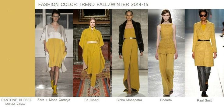 Fashion Color Trend Fall/Winter 2014-15: Misted Ye...