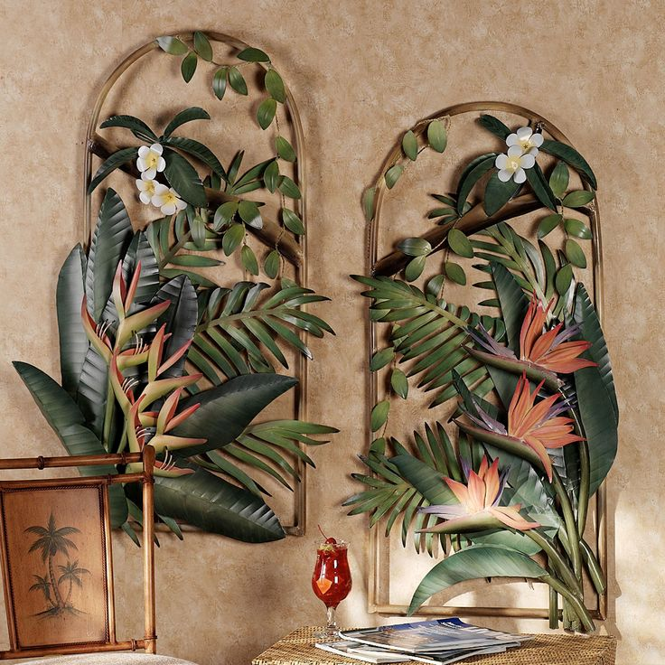 Tropical Metal Wall Sculptures