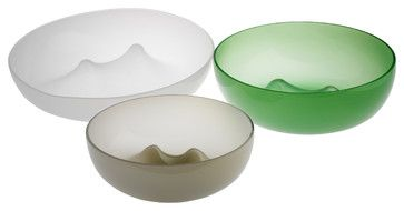 """Punch Bowl, Smoke, 9"""" Wide eclectic serving bowls"""