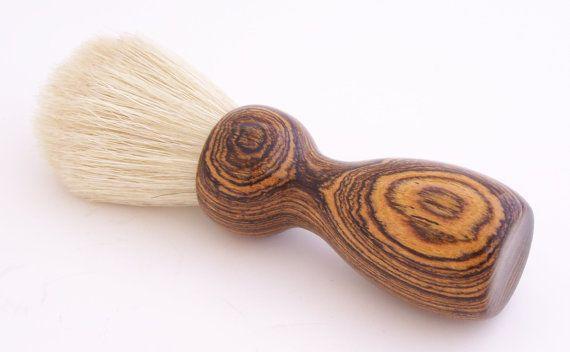 Bocote Wood 22mm Boar Bristle Shaving Brush by PCwoodcraftandPens