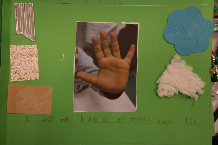 For our Senses topic we make books to show how we use our senses.