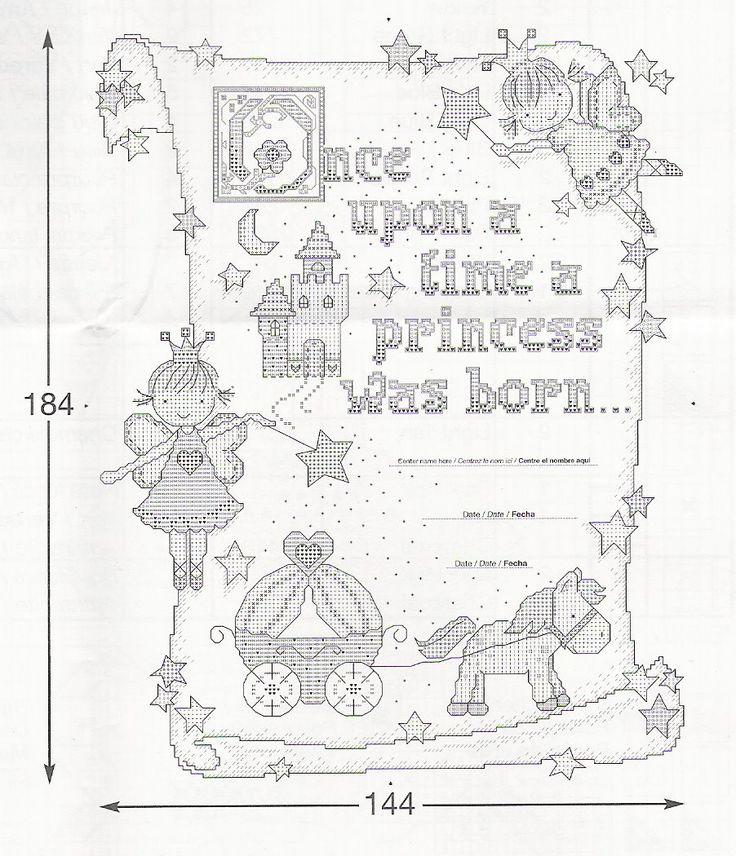 PRINCESS BIRTH RECORD de Bucilla