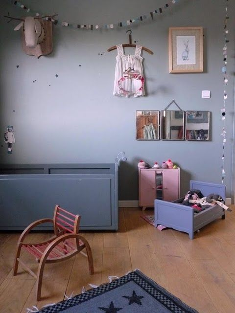 the boo and the boy: Grey walls in nurseries and kids' rooms but could this room have a little white to lighten it up?