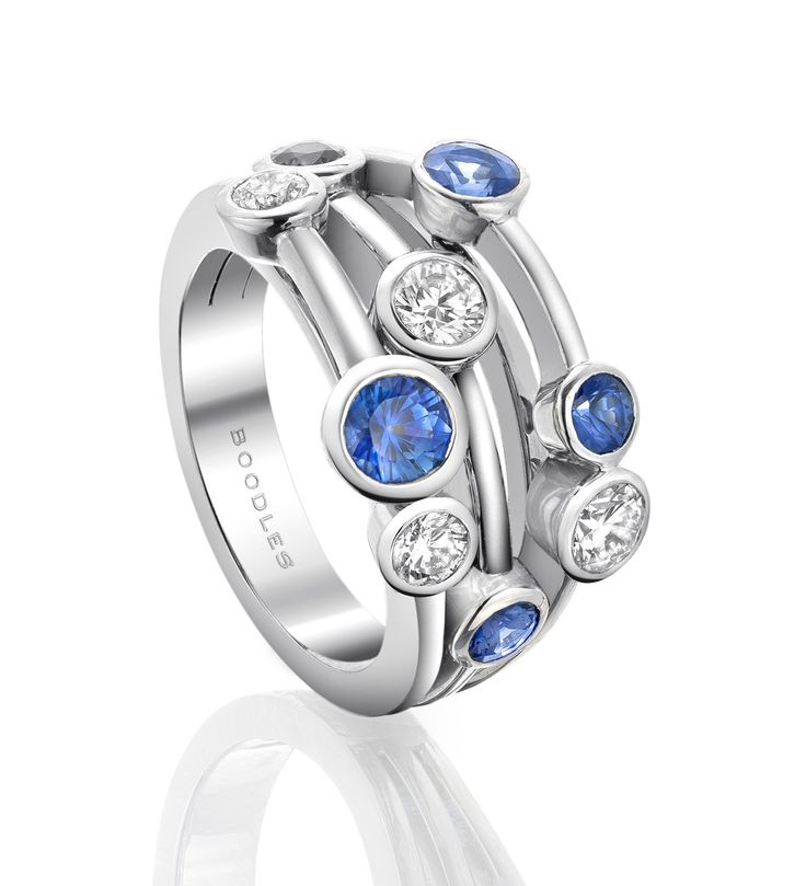 Crystal And Silver Contemporary Dress Rings