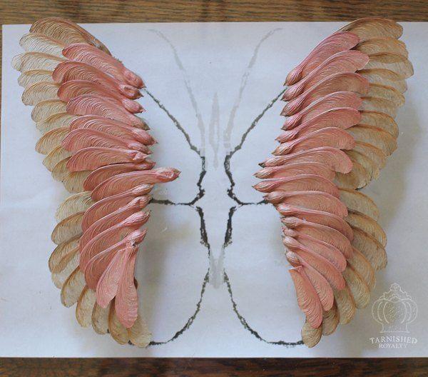 Ahornsamen Schmetterling Art – basteln – DIY – #…