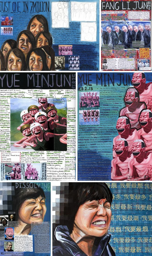 Analysis of artist work to help inform and develop own ideas - by Naomi Ng from Sha Tin College