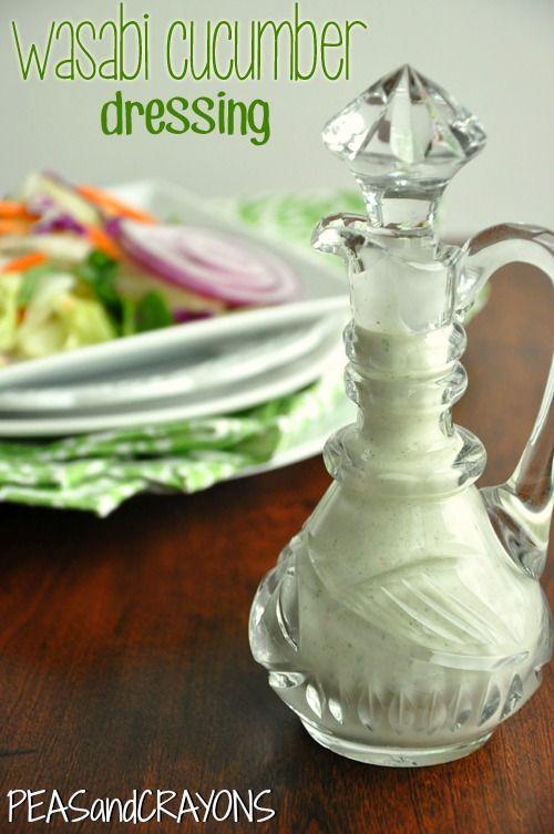 Wasabi Cucumber Dressing (replace buttermilk with kefir and yogurt or mayo with coconut milk. use fresh garlic... fresh onion... no dill)