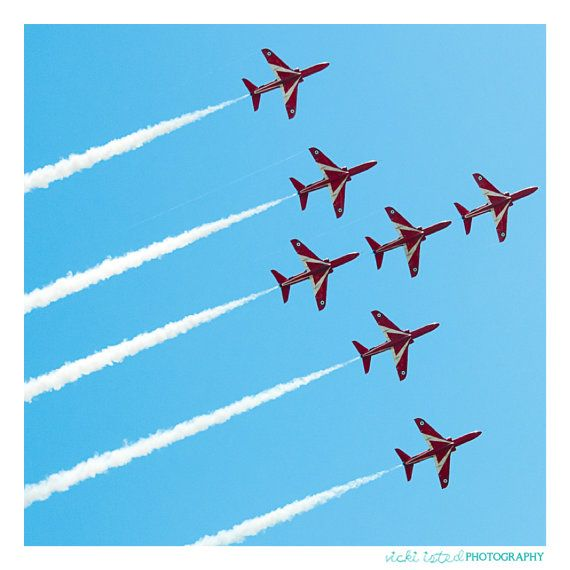 Red Arrows  Fine Art Photography by vickiistedPHOTO on Etsy, £25.00  www.vicki-isted.co.uk