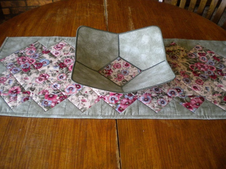fabric bowl and table runner