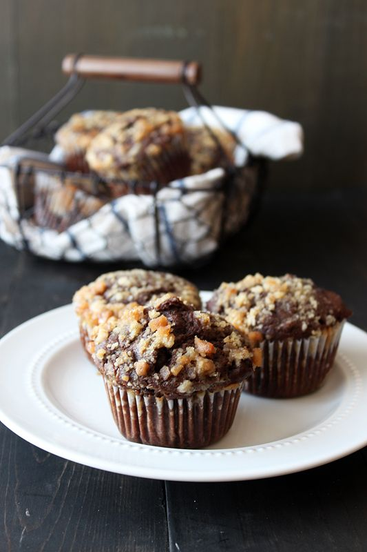 Chocolate Coffee Toffee Crunch   Muffins.try in thermomix !