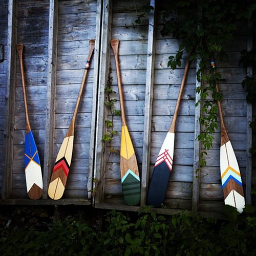 Colorful paddles