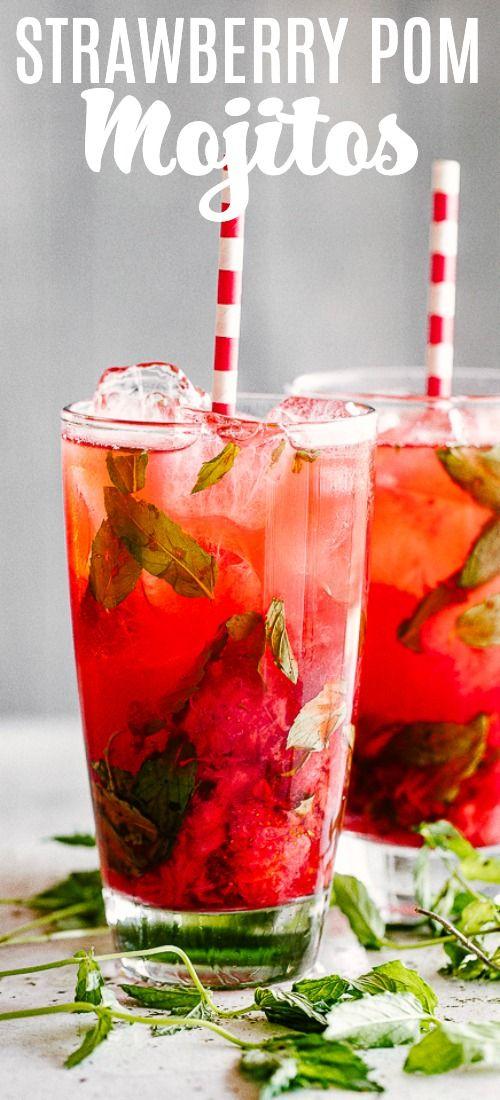 Strawberry Pom Mojito –A delicious twist on traditional Mojitos prepared with …