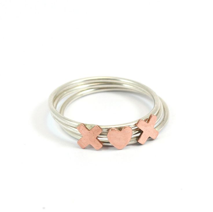 Pretty Birds Creations - XHeartX Copper Ring Set