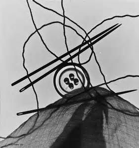 Luigi Veronesi (past photographer).  Abstract haberdashery, back-lit, presumably on a light box device.