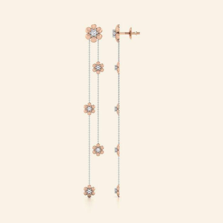 Buy Diamond Rosa Mozart Earring Jewellery Online - Caratstyle.com