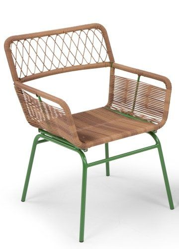 The Lyra Outdoor Dining Set in Green. Ideal for lazy barbecues and summer evenings. £119 | MADE.COM