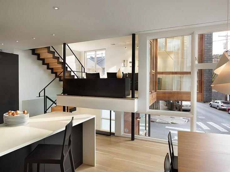 Image 7 Of 22 From Gallery Of Split Level House / Qb Design. Photograph By  Halkin Mason Photography