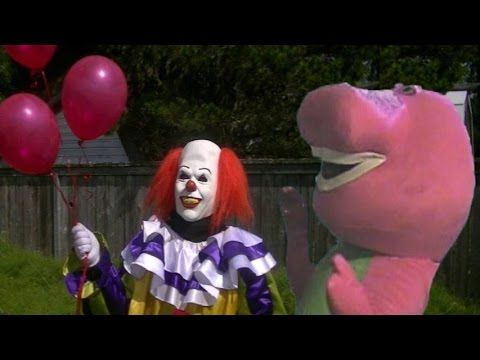Pennywise The Dancing Clown Vs Barney The Dinosaur - YouTube