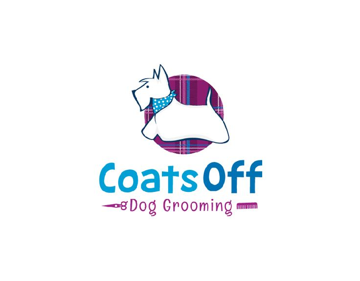 Create a fun and funky logo for my new dog grooming business ' Coats Off' by Bossall691