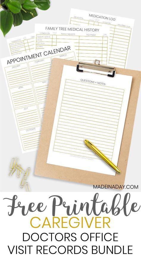 be prepared doctor office visit medical records bundle planner