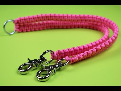 How to make a paracord Dual dog leash splitter tutorial - YouTube