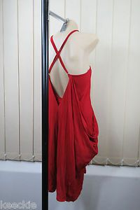 Size M 12 Ladies RED Dress Cocktail Party Wedding Drape Crushed Layer Style | eBay
