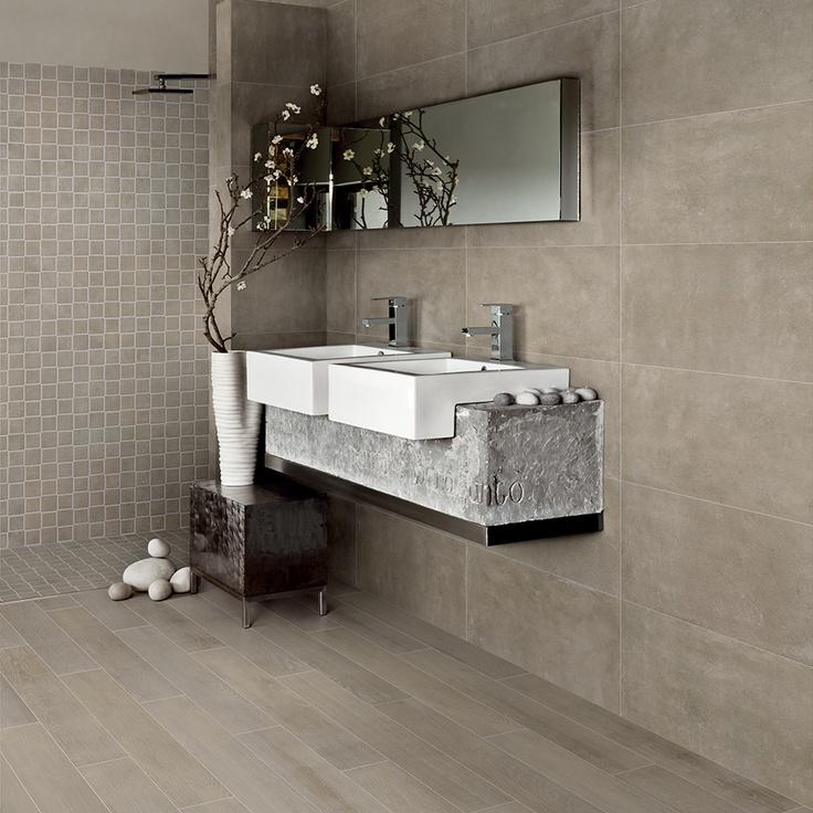 Fioranese | Blend - Concrete Oliva - Colored Wood Oliva - Mosaico MiniMaxi Oliva