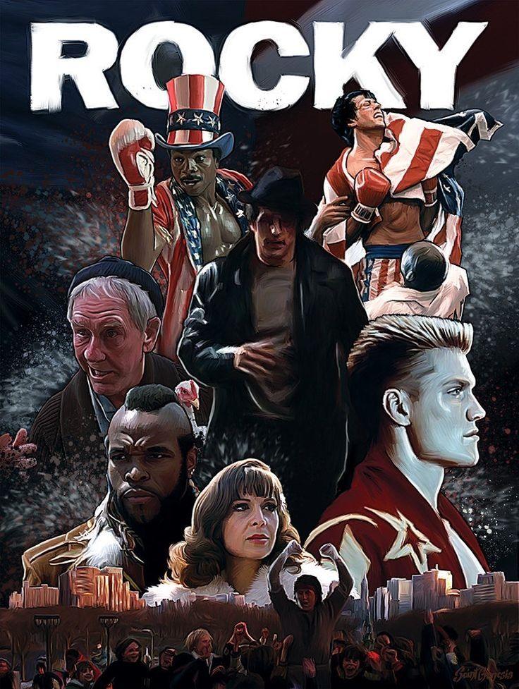 Se llama Rocky. Esta película es una película de deportes y tambien es un drama.  Rocky es un boxeador que trata de vencer a otras personas.